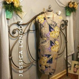 Jessica London nude floral plus size dress 26W
